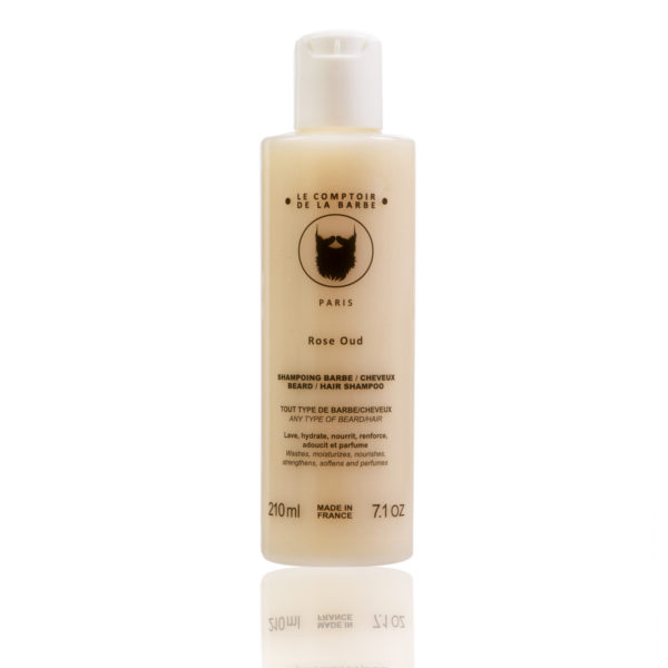 shampoing barbe-cheveux rose oud
